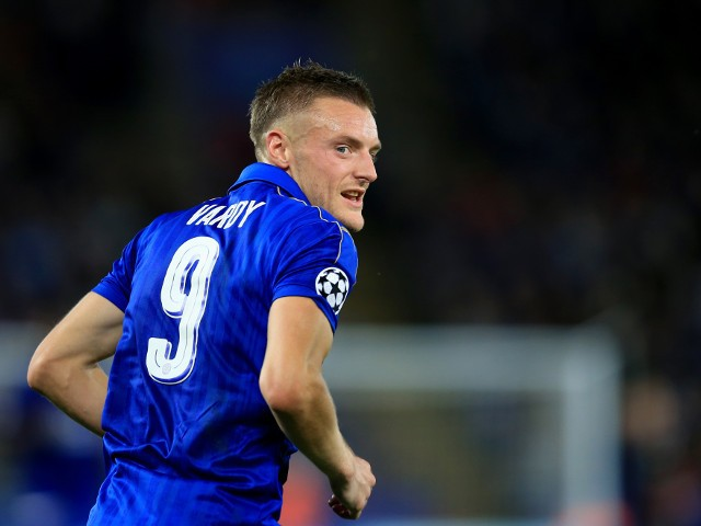 Leicester City striker Jamie Vardy during his side's 1-0 Champions League Group G victory over Porto at the King Power Stadium on September 27, 2016