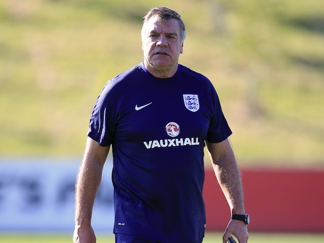 Sam Allardyce takes England training on August 30, 2016