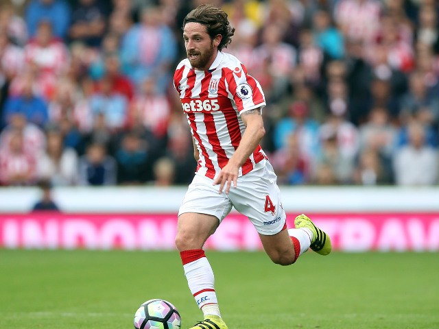 Stoke City midfielder Joe Allen runs with the ball during the Premier League clash with Tottenham Hotspur on September 10, 2016