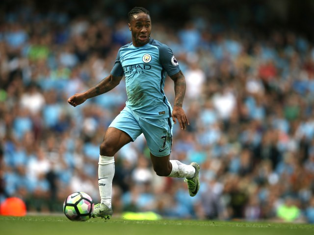 Manchester City winger Raheem Sterling in action during his side's Premier League clash with Bournemouth at the Etihad Stadium on September 17, 2016