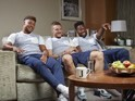 Alex Oxlade-Chamberlain, Jamie Vardy and Daniel Sturridge appear on Channel 4's Gogglebox