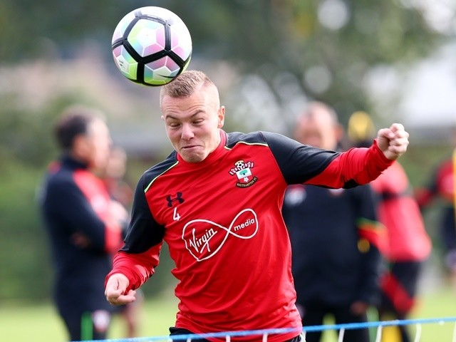 Jordy Clasie of Southampton during training on October 14, 2016