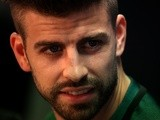 Gerard Pique at a press conference after the Barcelona training session prior to their Champions League match against Manchester City on October 18, 2016