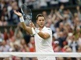Marcus Willis in action at Wimbledon on July 29, 2016