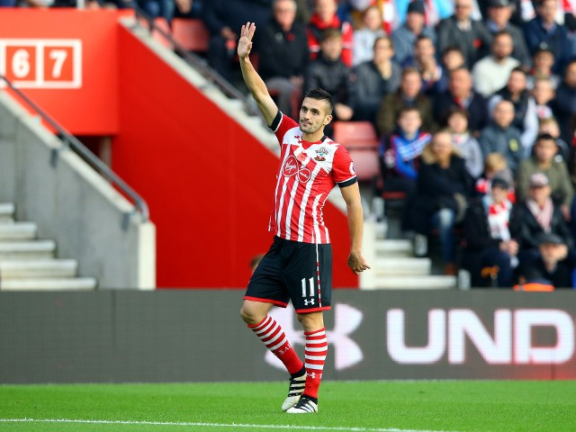 Dusan Tadic of Southampton in action during his side's Premier League clash with Chelsea at St Mary's Stadium on October 30, 2016