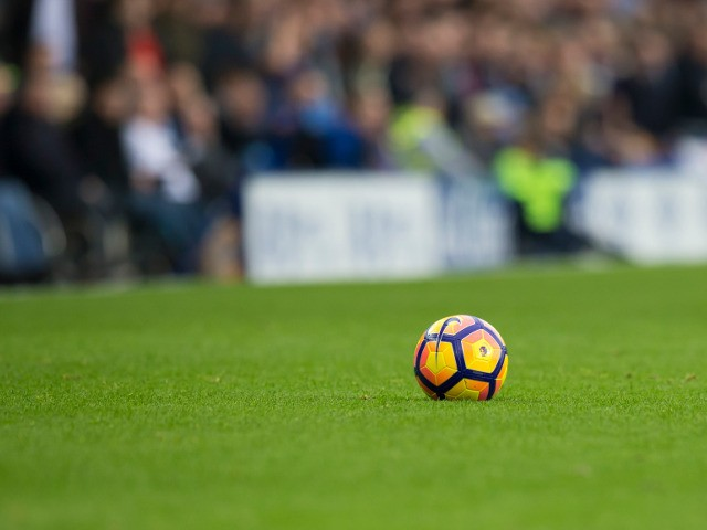 A general shot of a Premier League football ahead of the Premier League clash between Everton and West Ham United at Goodison Park on October 30, 2016