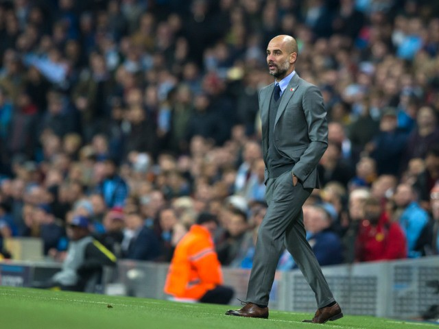 Manchester City manager Pep Guardiola on the touchline during the Champions League clash with Barcelona at the Etihad Stadium on November 1, 2016