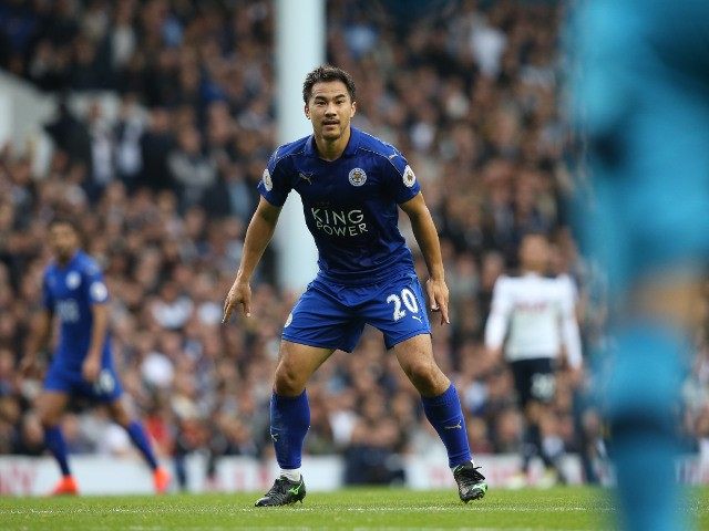 Leicester City striker Shinji Okazaki in action during the Premier League clash with Tottenham Hotspur at White Hart Lane on October 29, 2016