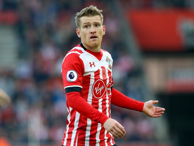 Steven Davis of Southampton in action during his side's Premier League clash with Chelsea at St Mary's on October 30, 2016