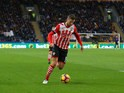 Southampton forward Jay Rodriguez in action during his side's Premier League clash with Hull City at the KCOM Stadium on November 6, 2016