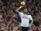 Tottenham Hotspur defender Kyle Walker in action during the North London derby against Arsenal at the Emirates Stadium on November 6, 2016