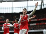 Laurent Koscielny of Arsenal in action during the North London derby at the Emirates Stadium on November 6, 2016