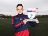 Zach Clough poses with his player of the month award for November 2016 - EMBARGOED UNTIL NOVEMBER 11