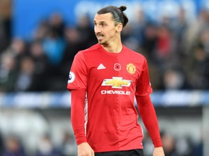 Zlatan Ibrahimovic of Manchester United in action during their Premier League clash with Swansea City at the Liberty Stadium on November 6, 2016