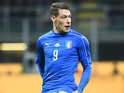 Italy's Andrea Belotti in action for his side during the international friendly with Germany in Milan on November 15, 2016