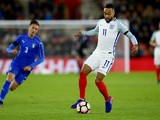 England Under-21s winger Nathan Redmond in action during his side's friendly against Italy Under-21s on November 10, 2016