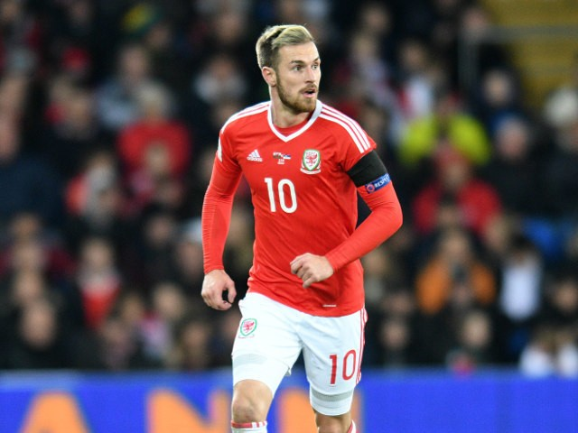 Wales midfielder Aaron Ramsey in action during his side's World Cup qualifier with Serbia on November 12, 2016