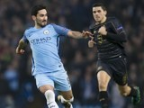 Ilkay Gundogan and Tomas Rogic in action during the Champions League game between Manchester City and Celtic on December 6, 2016