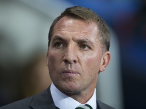 Brendan Rodgers watches on during the Champions League game between Manchester City and Celtic on December 6, 2016