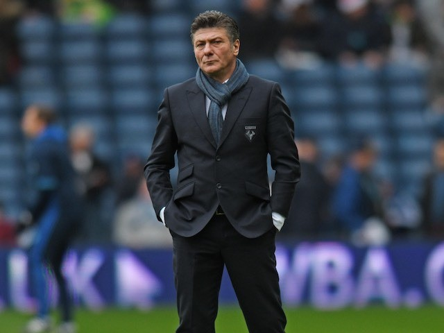 Walter Mazzarri watches on during the Premier League game between West Bromwich Albion and Watford on December 3, 2016