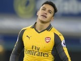 Alexis Sanchez in action during the Premier League game between Everton and Arsenal on December 13, 2016
