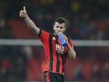 Jack Wilshere imbibes during the Premier League game between Bournemouth and Leicester City on December 13, 2016