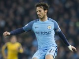David Silva in action during the Premier League game between Manchester City and Arsenal on December 18, 2016
