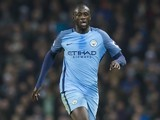 Yaya Toure in action during the Premier League game between Manchester City and Arsenal on December 18, 2016