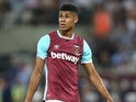 Ashley Fletcher in action for West Ham United on August 25, 2016