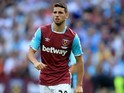 Jonathan Calleri in action for West Ham United on August 21, 2016