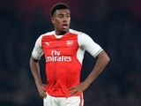 Alex Iwobi in action for Arsenal on October 25, 2016