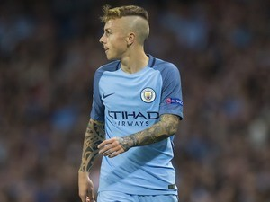 Angelino in action for Manchester City on August 24, 2016