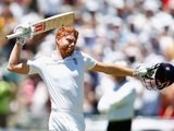 Jonny Bairstow celebrates his century on day two of the second Test between South Africa and England on January 3, 2016