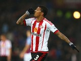 Patrick van Aanholt celebrates scoring during the game between Sunderland and Aston Villa on January 2, 2016