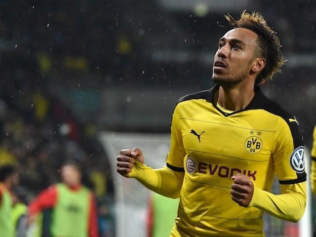 Pierre-Emerick Aubameyang in action for Borussia Dortmund on December 15, 2015