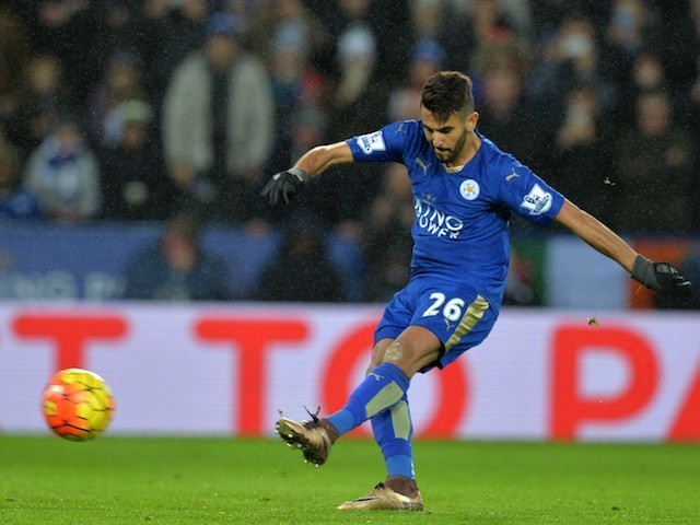 Riyad Mahrez misses a penalty during Leicester City's game with Bournemouth on January 2, 2016
