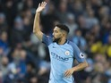 Gael Clichy celebrates scoring during the Premier League game between Manchester City and Burnley on January 2, 2017