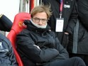 Jurgen Klopp watches on sternly during the Premier League game between Sunderland and Liverpool on January 2, 2017