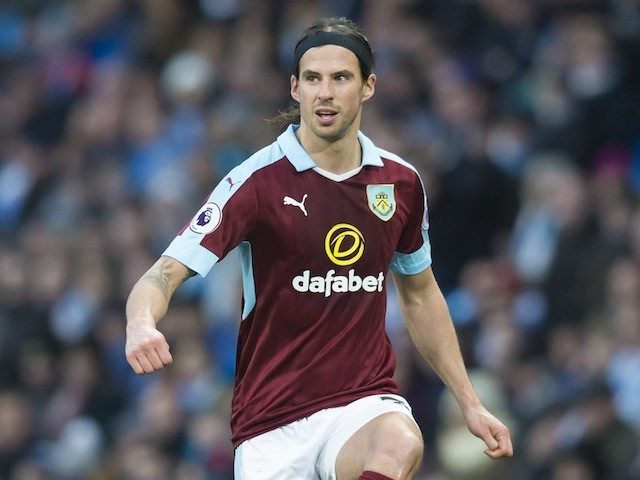 George Boyd in action during the Premier League game between Manchester City and Burnley on January 2, 2017
