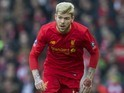 Alberto Moreno and his ridiculous tattoos in action during the FA Cup game between Liverpool and Plymouth Argyle on January 8, 2017