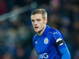 Leicester striker Jamie Vardy in action during their Premier League clash with Chelsea at the King Power Stadium on January 14, 2017