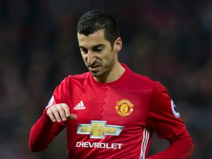 Manchester United winger Henrikh Mkhitaryan in action during the Premier League clash with Liverpool at Old Trafford on January 15, 2017