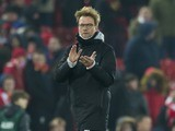Jurgen Klopp applauds after the EFL Cup semi-final between Liverpool and Southampton on January 25, 2017