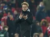 Jurgen Klopp applauds after the EFL Cup semi-final between Liverpool and Southampton on January 25, 2017