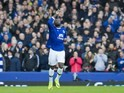 Romelu Lukaku celebrates scoring during the Premier League game between Everton and Bournemouth on February 4, 2017