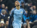 Gabriel Jesus in action for Manchester City on January 21, 2017