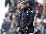 Eddie Howe watches on during the Premier League game between West Bromwich Albion and Bournemouth on February 25, 2017