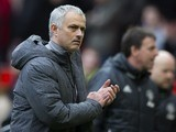 Jose Mourinho applauds after the Premier League game between Manchester United and Bournemouth on March 4, 2017
