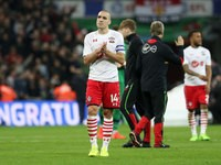 Southampton midfielder Oriol Romeu in action during his side's EFL Cup final with Manchester United at Wembley on February 26, 2017