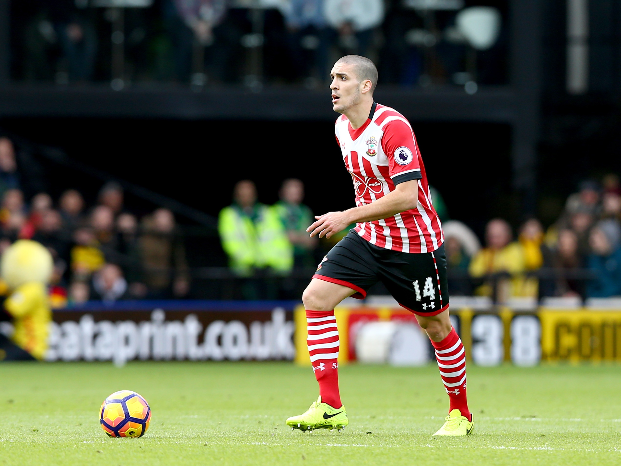 Southampton's Oriol Romeu in action against Watford on March 4, 2017